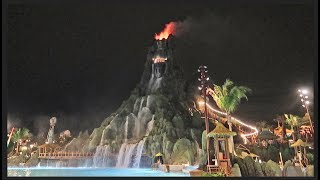 Her First Time At Volcano Bay Water Park | The Spirit Of The Volcano, Night Eruption & New Rafts!
