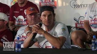 "Matthew McConaughey on Tom Herman Developing Texas Football: ""So Far I Am Impressed"""