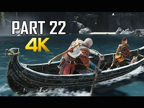 GOD OF WAR Gameplay Walkthrough Part 22 - Lowered Waters (PS4 PRO 4K Commentary 2018)