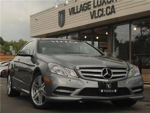 2012 Mercedes Benz E350 [AMG Sport Coupe] In Review   Village Luxury Cars  Toronto