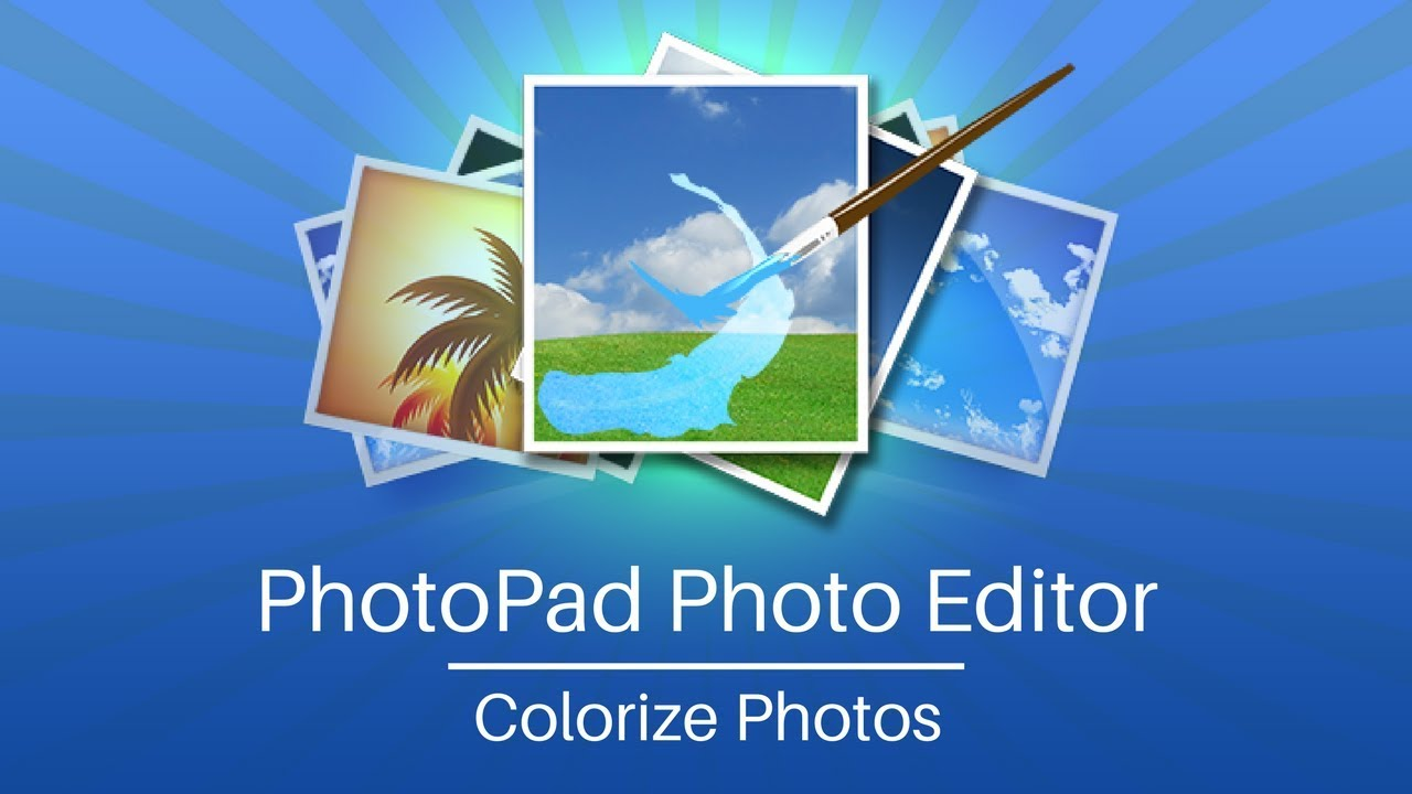 Add Color to Black and White Photos with PhotoPad - YouTube