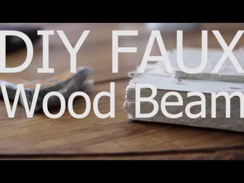 DIY Faux Wood Beam