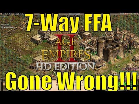 AoE2HD - 7-Way Black Forest FFA (Gone Wrong)!!!