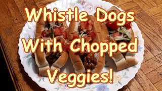 Whistle Dogs With Fresh Chopped Relish