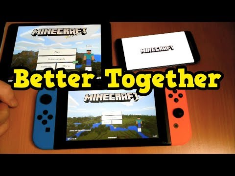 Minecraft Switch - Better Together Gameplay (5 Platforms At Once)