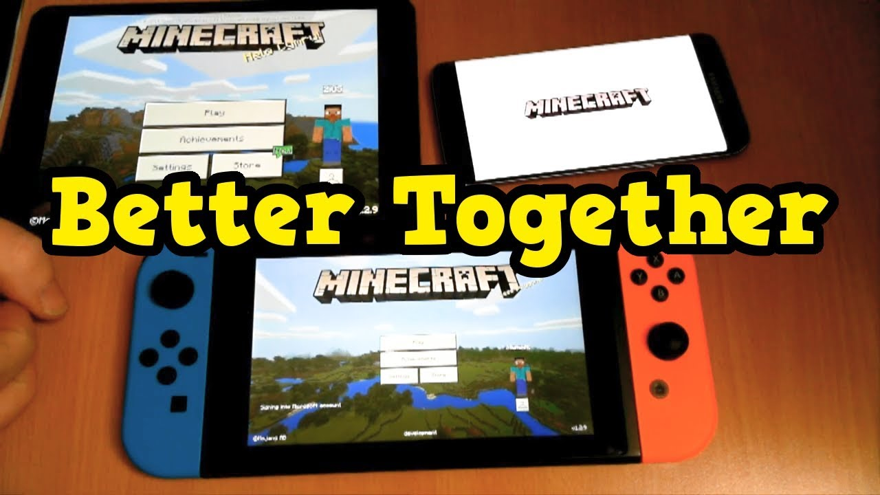 Minecraft Switch Better Together Gameplay 5 Platforms At Once