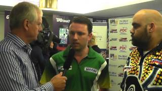 Perth Darts Masters | Paul Nicholson and Kyle Anderson chat to Rod Harrington