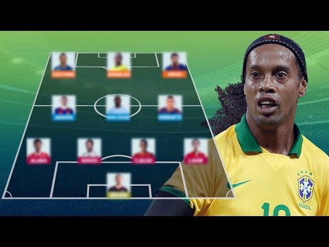 RONALDINHO's Champions League Dream Team  [ All-Time Best XI ]