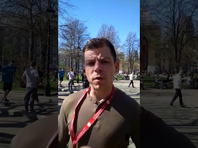 Hunter Language School Video of the Week: Diego Lujan in College Green Bristol