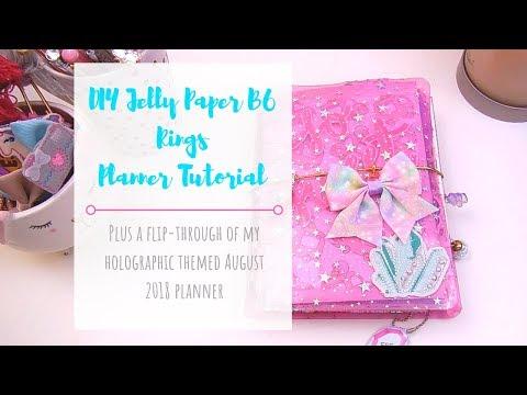DIY Jelly Planner Tutorial and August Planner Flipthrough
