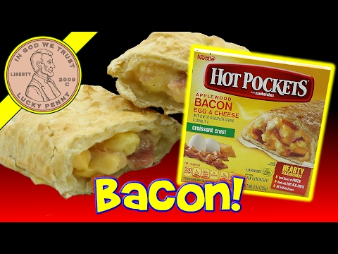 Hot Pockets Applewood Bacon  Egg & Cheese Croissant Crust Breakfast Sandwich