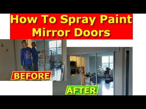 How to Paint Mirrored Closet Doors - Painting Metal Frames