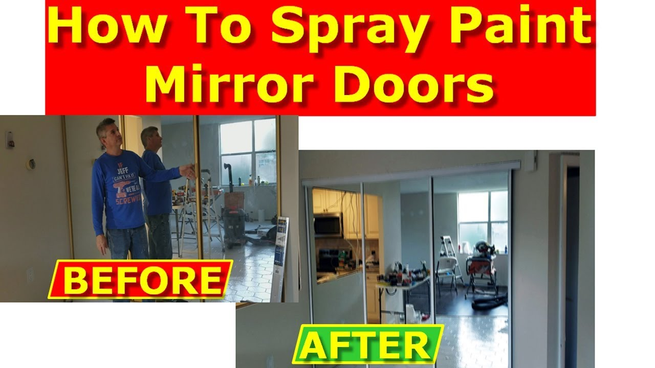 How To Paint Mirrored Closet Doors Painting Metal Frames
