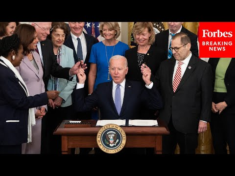 Funny Moment: Biden Runs Out Of Bill-Signing Pens, Has Aide Bring Him More