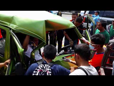 Lawaan Talisay City Cebu Car Accident Actual Video Rescue