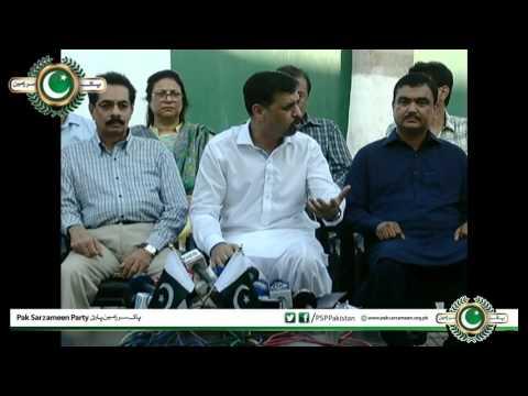 3 Senior MQM Members join PSP Mustafa Kamal Press Conference 13-10-2016