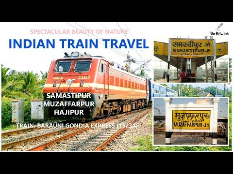 Indian Railway Train Journey in Bihar Samastipur - Muzaffarpur - Hajipur