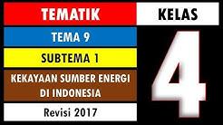 Soal Tematik Kelas 4 Tema 9 Subtema 1 dan Kunci Jawaban - Kekayaan Sumber Energi di Indonesia