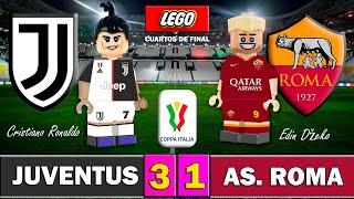 JUVENTUS 3 1 ROMA Copa Italia 2020 4tos de Final Resumen y Goles Fútbol LEGO Stop Motion