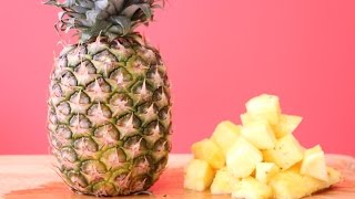 how to peel and cut a pineapple fast