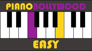 Main Hoon Na - Easy PIANO TUTORIAL - Verse 2 [Both Hands Slow]