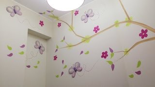 Baixar Mariposas y Flores De Colores En Habitacion De Niña