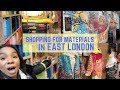 TEXTILE SOURCING in East London and Greenwich + Mini Sketchbook TOUR | C NICOLE VLOG 004