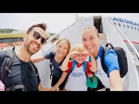 Familjen reser till Grekland VLOGG
