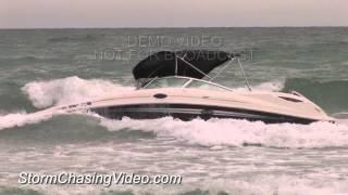 6/29/2013 Siesta Key, FL Rough Waters Sink Boat