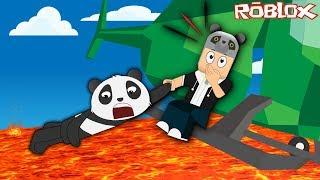 Helikoptere Bin ve Lavlardan Kaç!! - Panda ile Roblox Lava Survival Game!