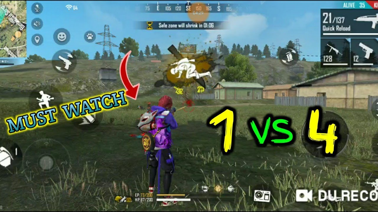 Solo Vs Squad rank match//Odia free fire//Dynamic Gaming