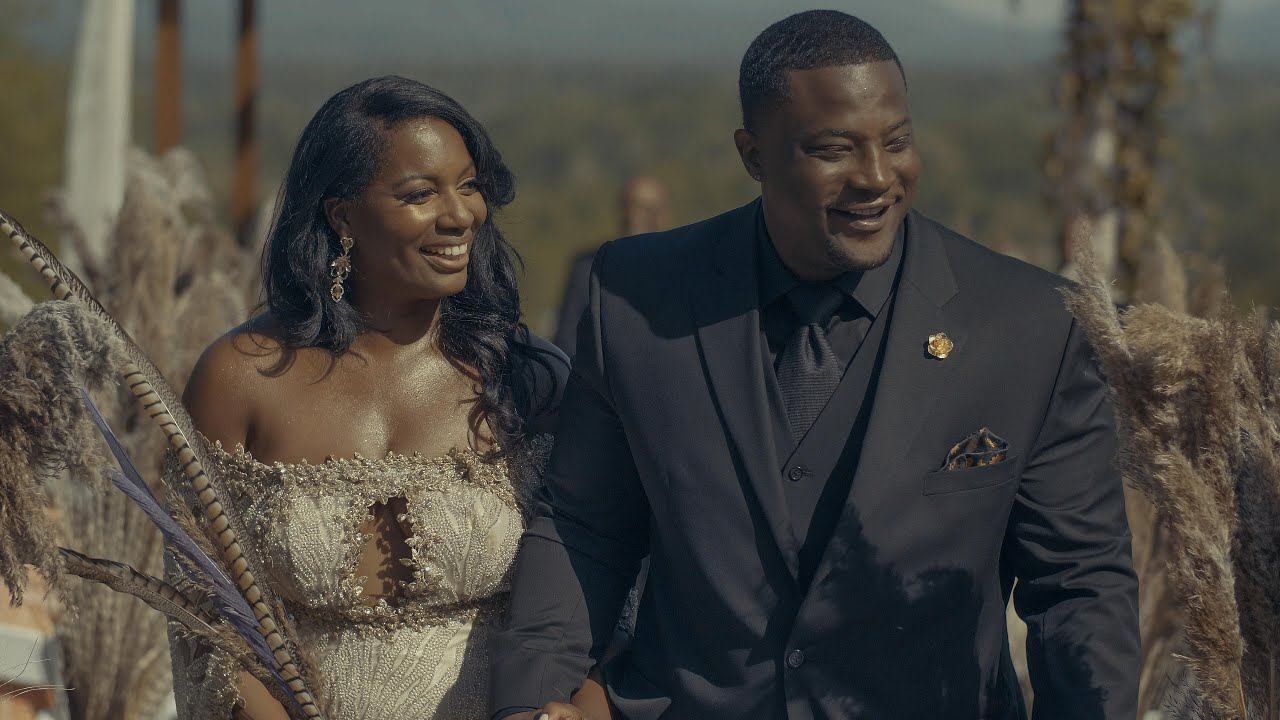 """Survivor"" Contestant Sabrina & Kareem's Gatsby Wedding Video   Longleaf Vineyard - Asheville, NC"