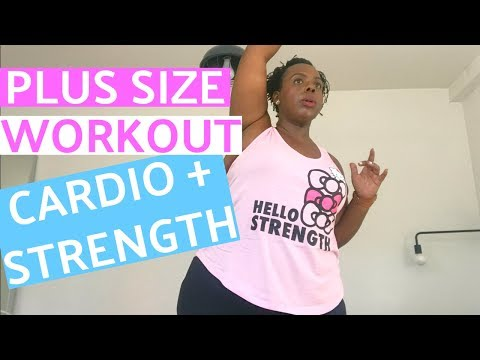 PLUS SIZE WORKOUT VIDEO | CARDIO, STRENGTH + HELLO KITTY