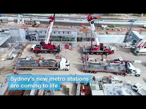 Sydney Metro: escalator installations begin