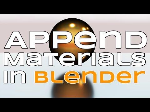 Append Materials In Blender