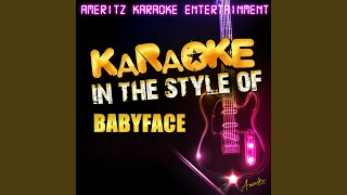 This Is for the Lover in You (Karaoke Version)