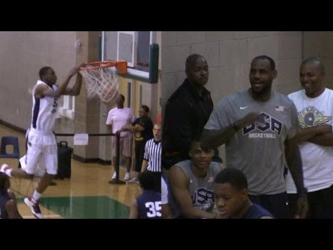 Andrew Wiggins brings LeBron James to his feet - 2012 LeBron James Skills Academy
