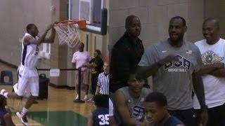 Andrew Wiggins brings LeBron James to his feet - 2012 LeBron James Skills Academy