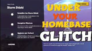 FORTNITE GLITCH UNDER YOUR HOMEBASE STW