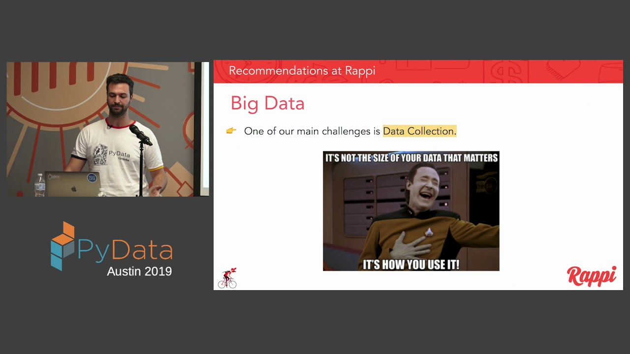 Image from Ariel Wolfmann: Recommendations at Rappi: from MVP to Data Product | PyData Austin 2019