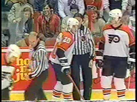 Jan.13/1985 Calgary Flames - Philadelphia Flyers