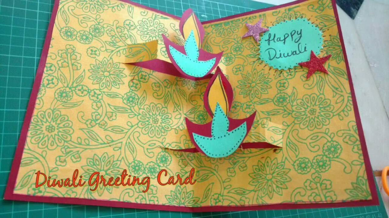 Diy diwali greeting card making idea diwali popup card how to youtube premium m4hsunfo