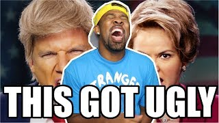 [ REACTION ] Donald Trump vs Hillary Clinton  Epic Rap Battles of History