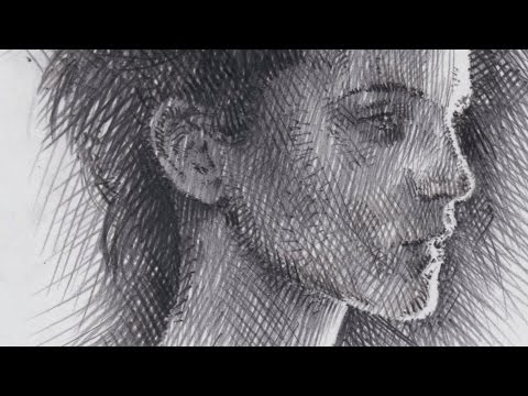Drawing Emma Watson in realtime, shading and hatching