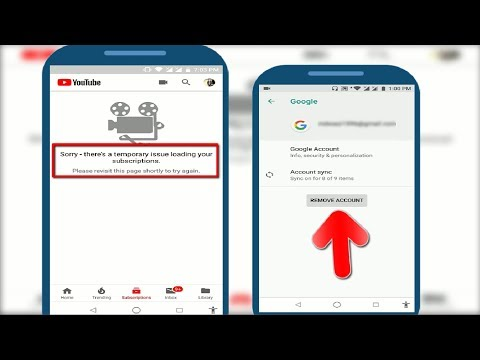 Fix Youtube Error Sorry There's A Temporary Issue Loading Subscription In Android