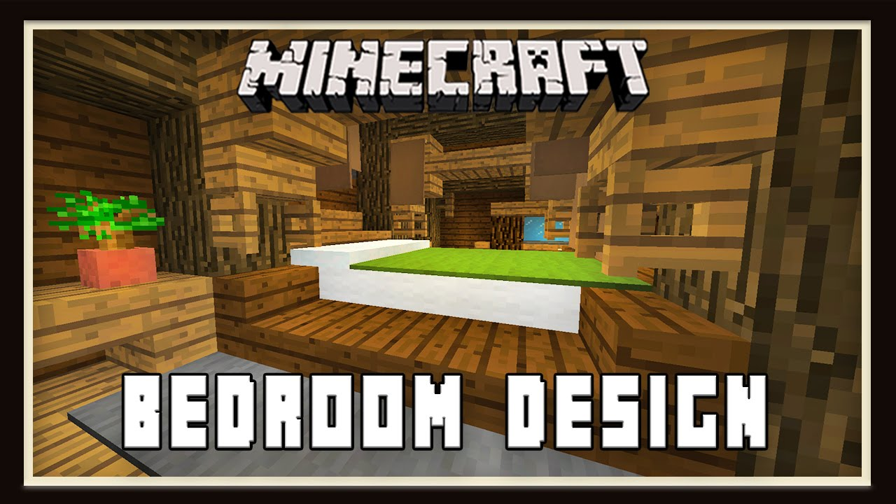 Minecraft bedroom design how to build a house part 12 for Nice bedroom designs minecraft