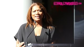 Queen Latifah Speaks At LL Cool J's Hollywood Walk Of Fame Ceremony 1.21.16