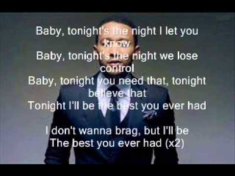 John Legend Ft  Ludacris   Best You Ever Had Karaoke