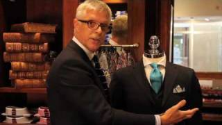 T.M.Lewin | How to Fold a Pocket Handkerchief Part 2 - The Formal Point and The Puff