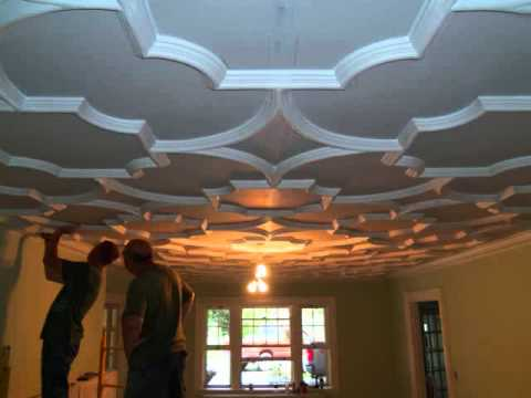 Decorative Plaster Ceiling Youtube
